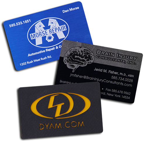 metal cards by Dyam