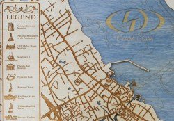 Plymouth 400 Year Commemorative Map detail