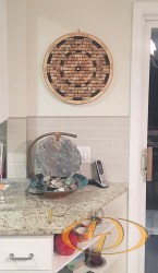 Decorative Wine Cork Dartboard in Kitchen